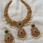 Cutwork Peacock AD Necklace By Kruthika Jewellery!