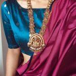 Traditional Pearl Cluster Lakshmi Haram By Vriksham Jewellery!