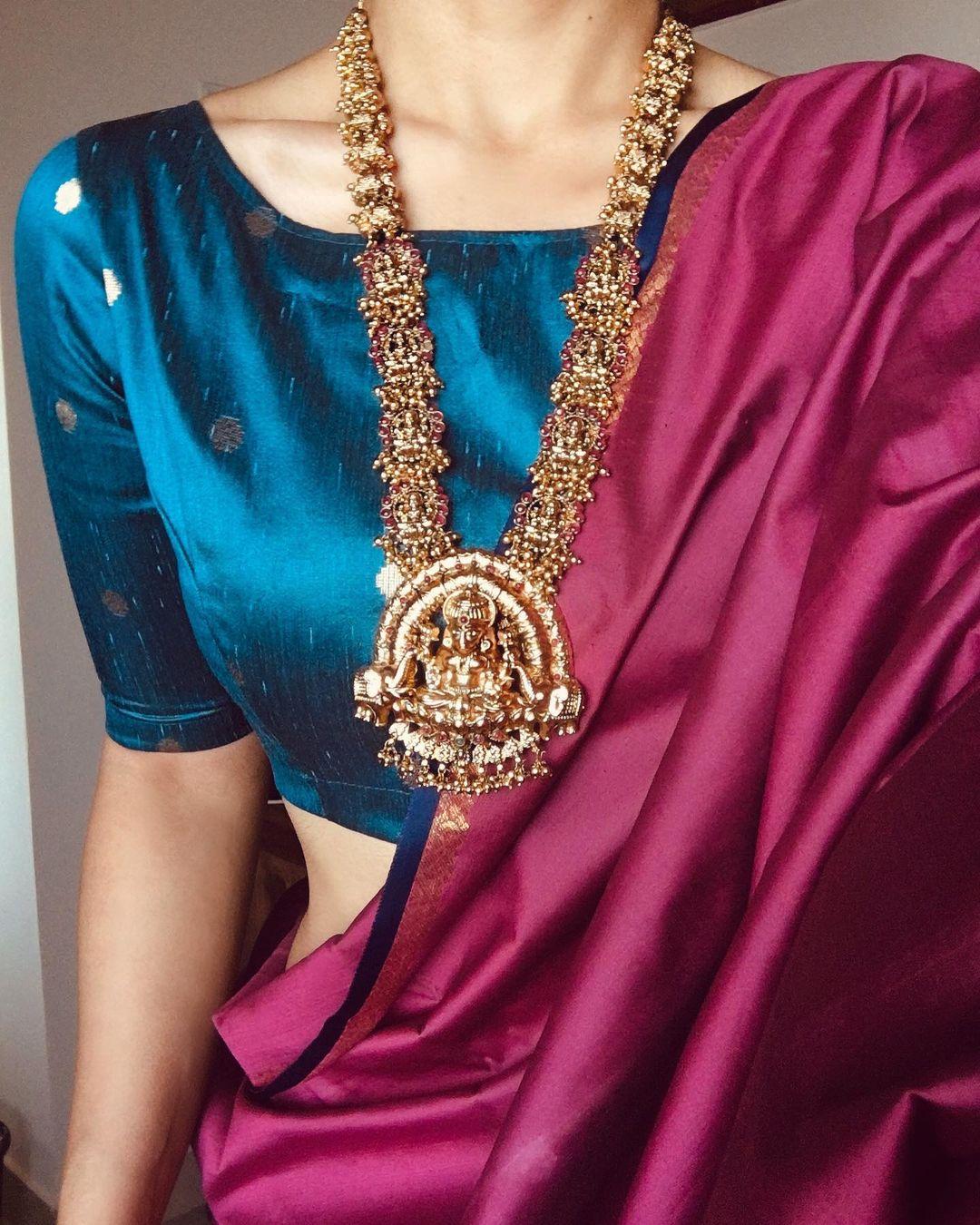 Traditional Pearl Cluster Lakshmi Haram