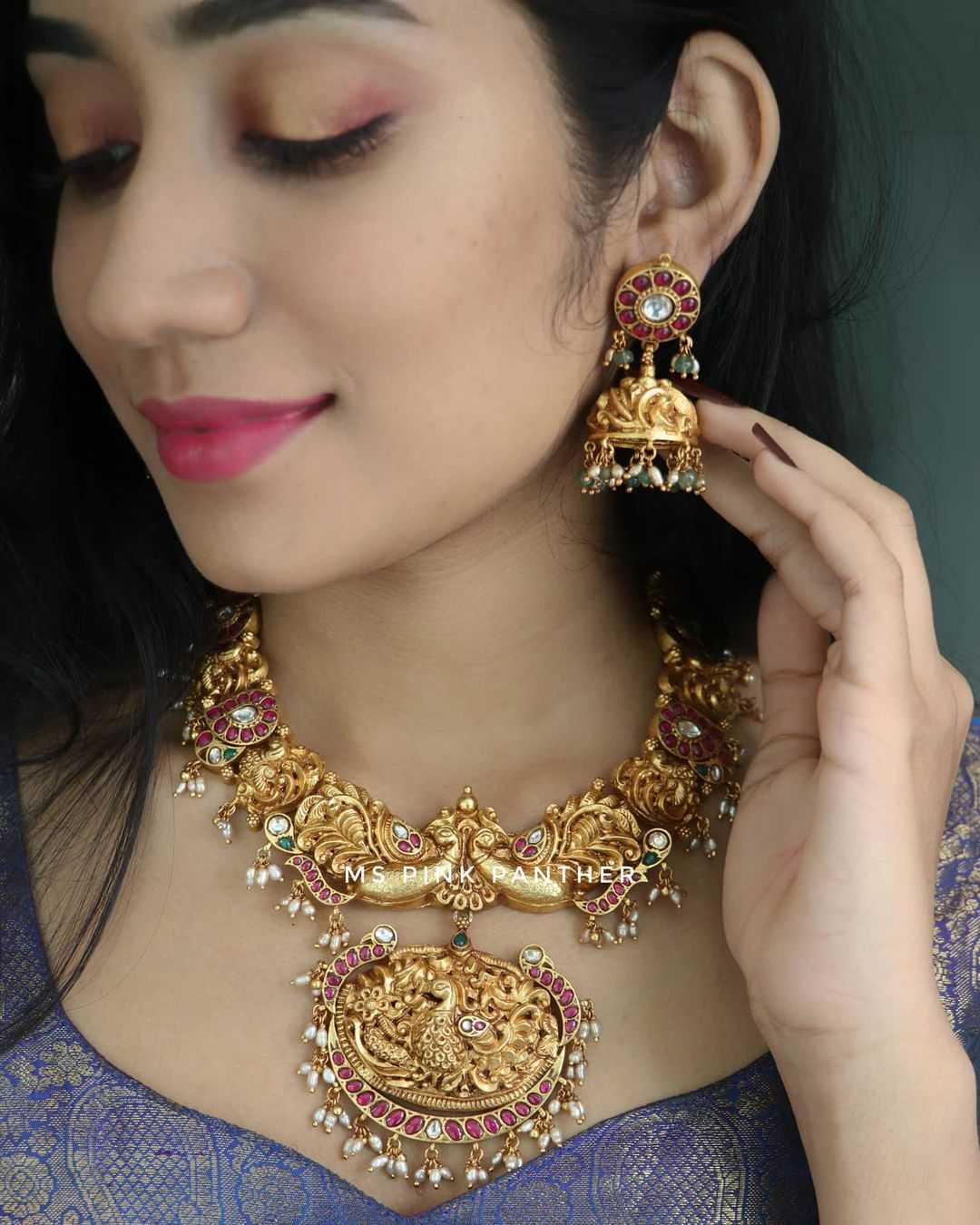 Gold Plated Antique Choker Necklace