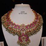 Regal Gold-Plated Stone Choker From Silver Sashti!