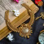 Intricate Designed Short Necklace By The Sri Vasavi Thanga Maaligai!