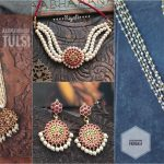 Traditional Tulsi Pearl And Kemp Necklace By Aabharanam