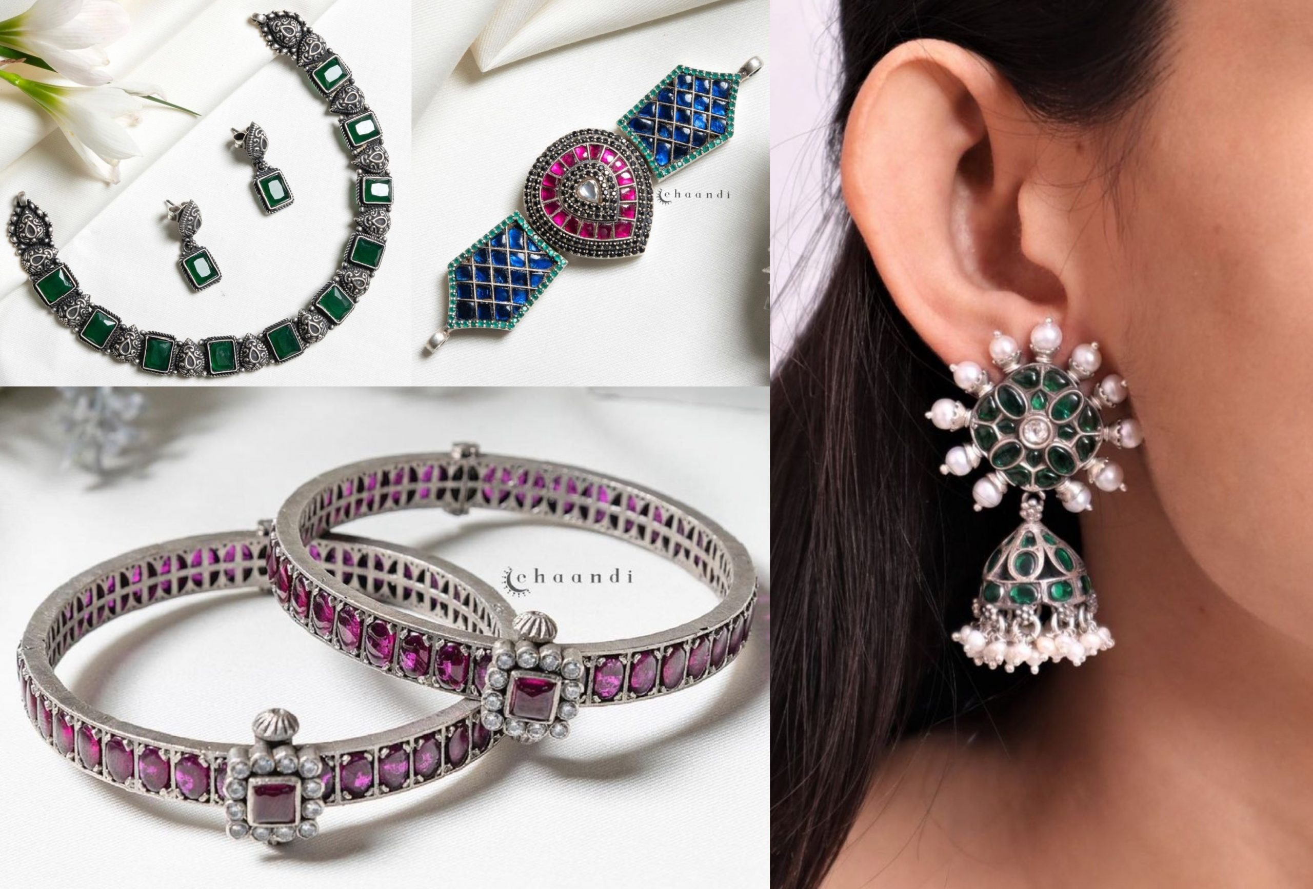 Stunning 92.5 Silver Jewellery By Chaandi