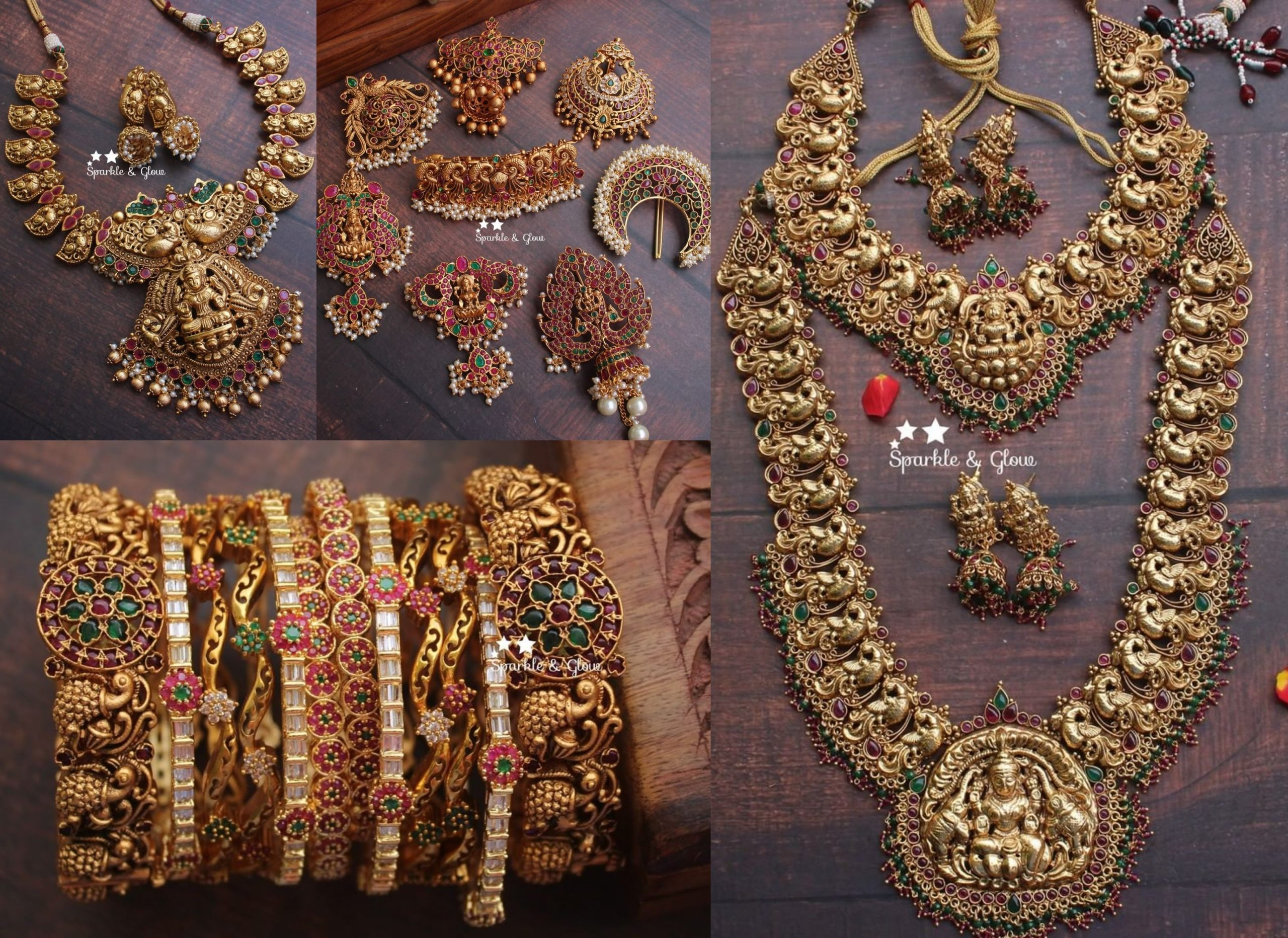 Antique Temple Design Jewellery From Sparkles By Archana!