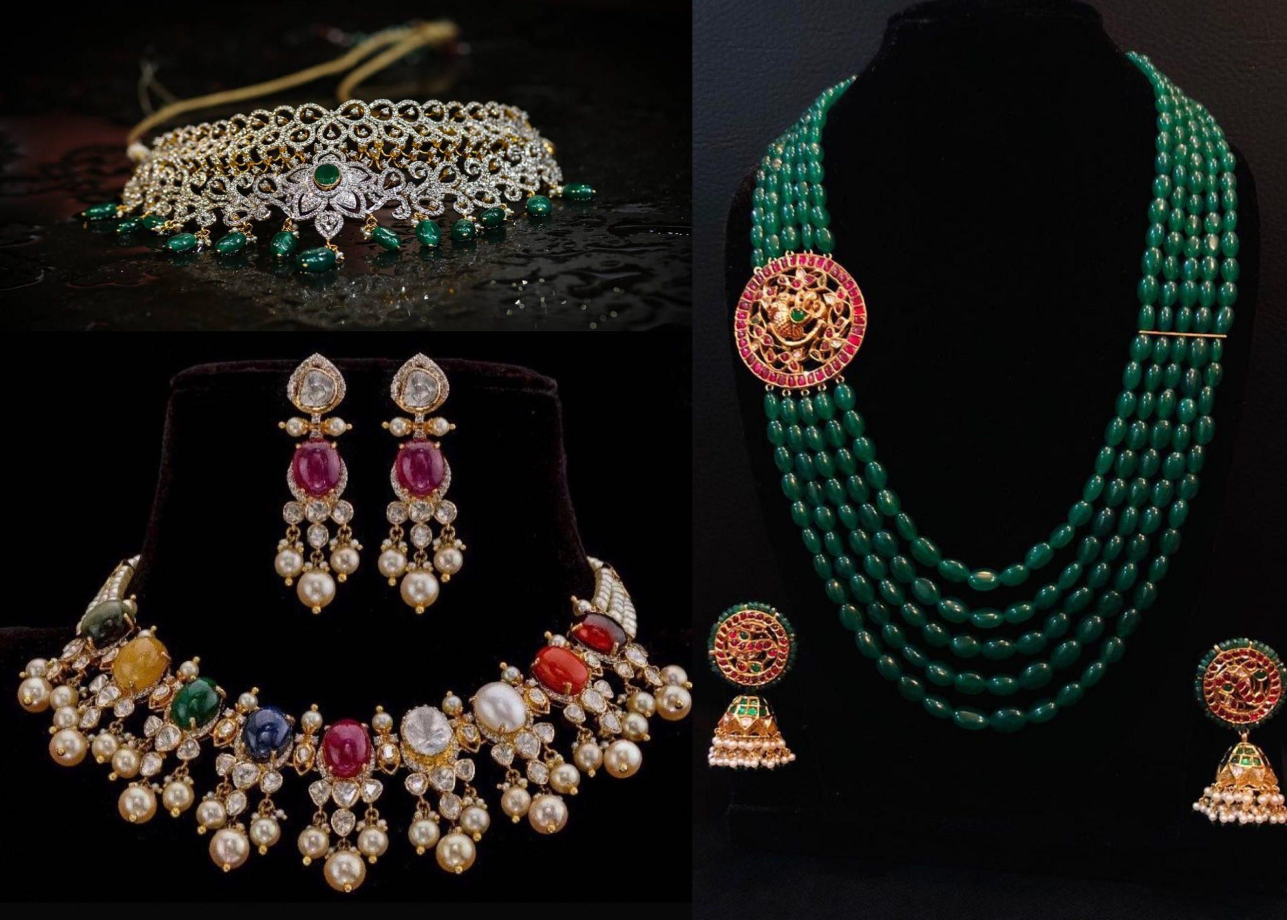 Stone-Studded Statement Jewellery By Aarni by Shravani!