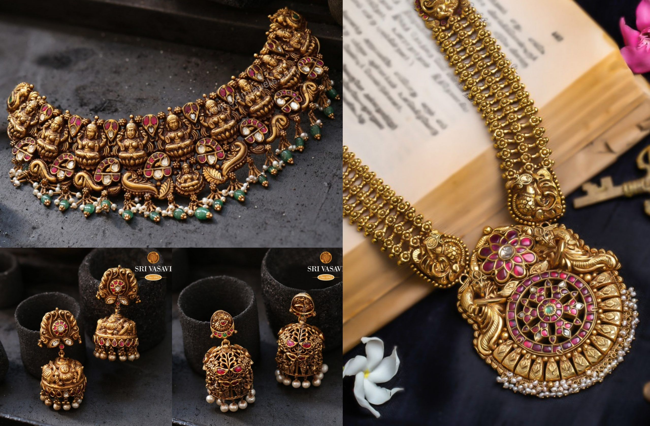 Nakshi Temple Jewellery Collection by Sri Vasavi Thanga Maaligai