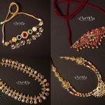 Navratna Stone Studded Neckpieces By The Utharikha Jewellers!!