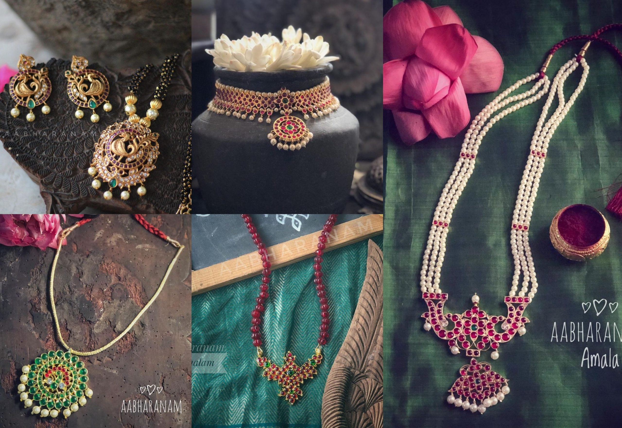 Kemp Studded Pendant Collection By Abharanam