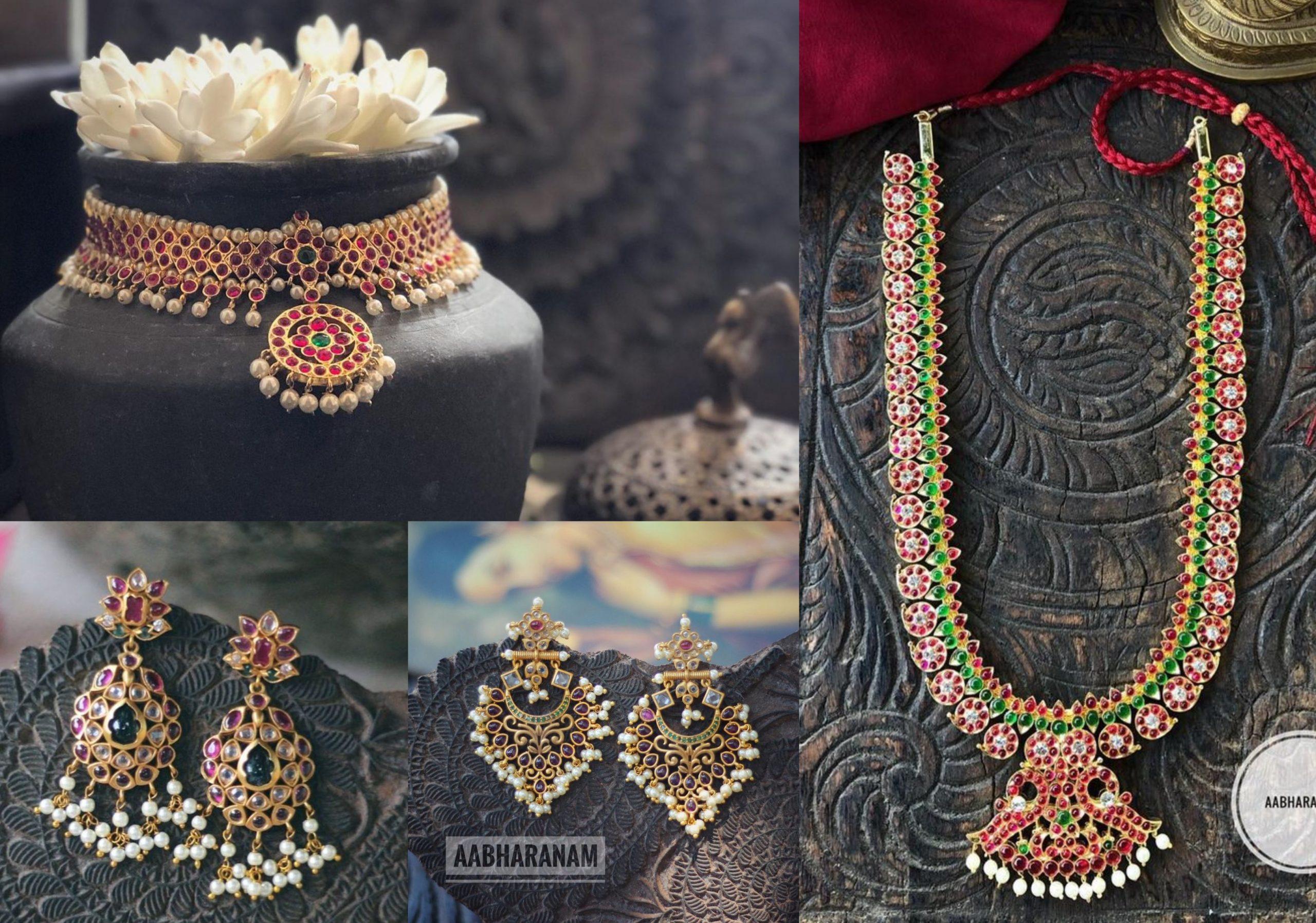 Traditional Kemp Jewellery Designs By Aabharanam