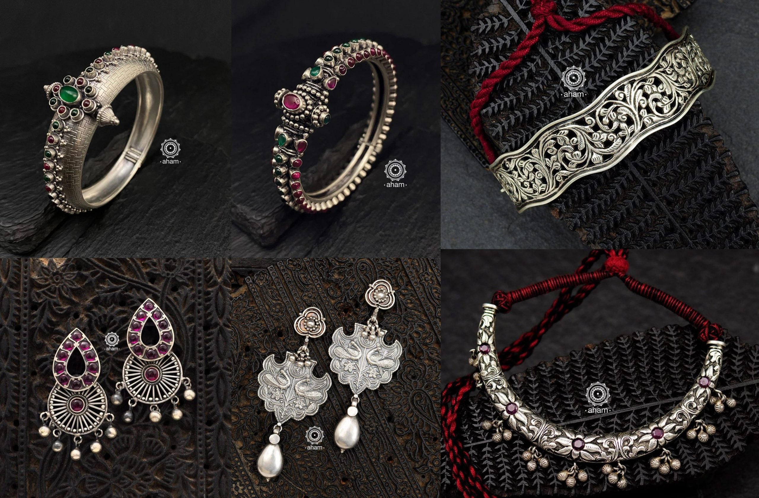 Ethereal Silver Jewellery Collection By Aham Jewellery!