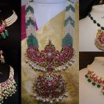 Pearl And Kemp Studded Necklaces By From Silver Sashti!