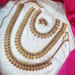Elegant Design Lakshmi Coin Combo Set By South India Jewels!