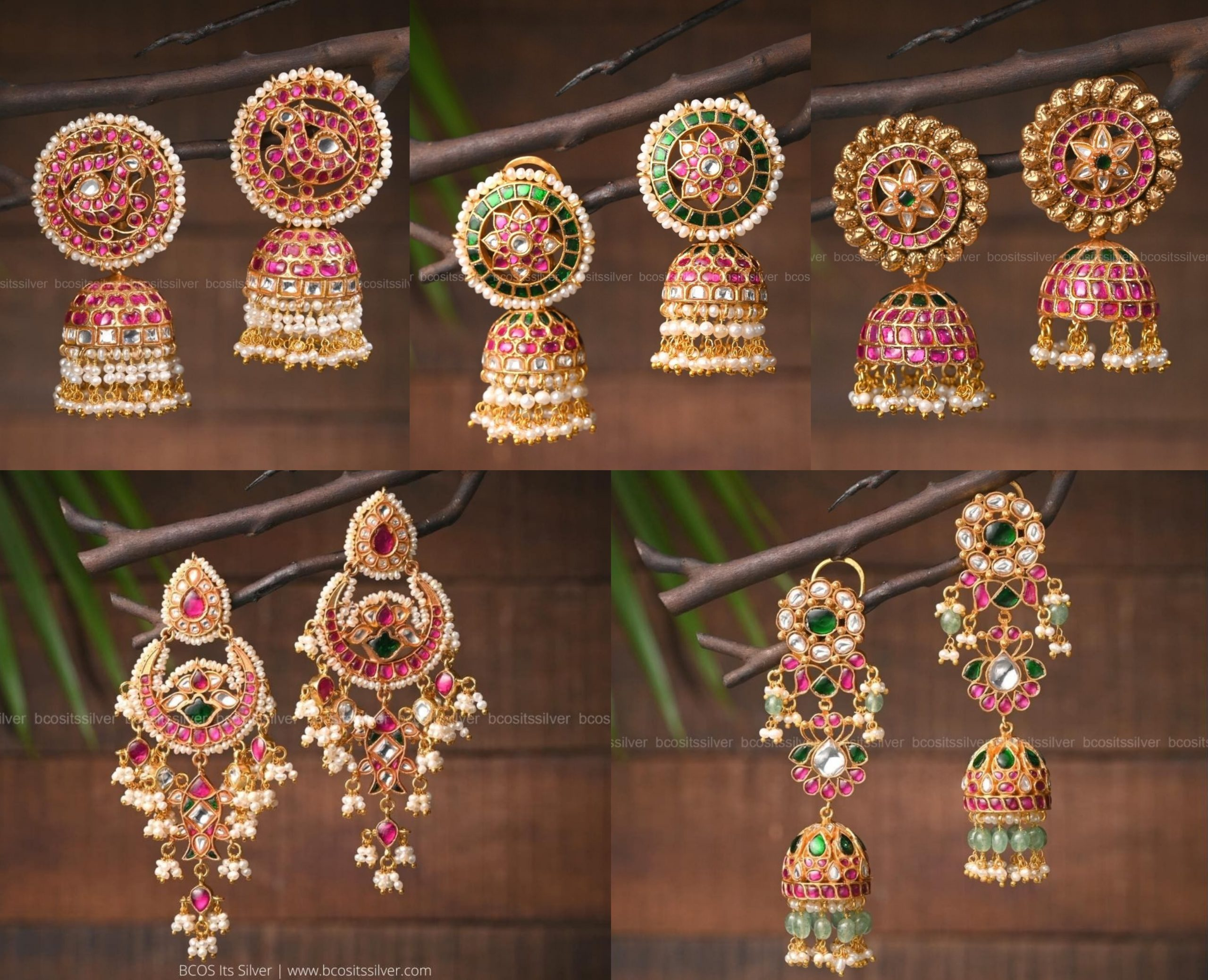 Kemp Studded Earrings Collection By bcos_its_silver