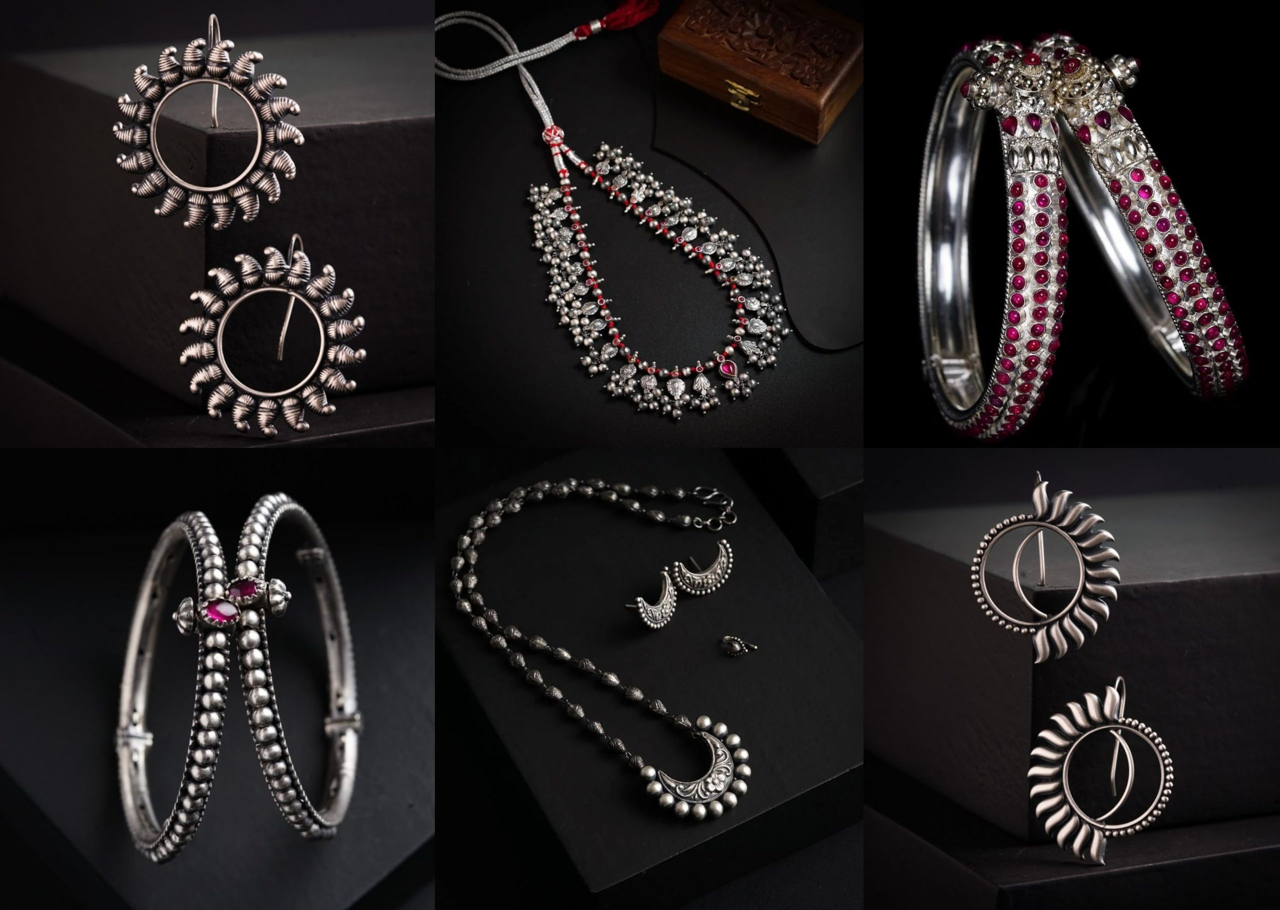Stunning Silver Jewellery Collection From The House Of Aadyaa!